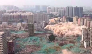 China: 36 edificios fueron demolidos en solo 20 segundos