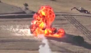 Irán: lanzan misil a bandera de Estados Unidos
