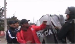 Chimbote: maestros en huelga toman la Panamericana Norte