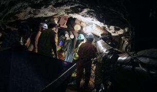Chanchamayo: Dos mineros mueren sepultados tras avalancha de rocas y lodo