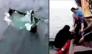 Trujillo: rescatan a pescadores perdidos hace seis días en alta mar