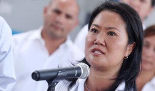 Keiko Fujimori considera inaceptable que la investiguen bajo ley de crimen organizado