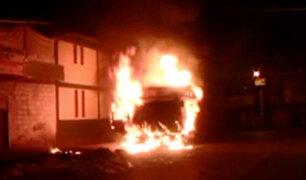 Pasco: camión se incendia y ocupantes se salvan de milagro
