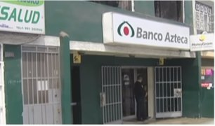 Policías investigan asalto a conocido banco en Santa Anita