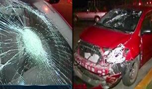 San Miguel: abogado provoca accidente de tránsito y deja dos heridos