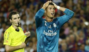 Cristiano Ronaldo suspendido cinco fechas por empujar a árbitro