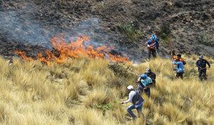Incendio forestal afectó 800 hectáreas de pastizales en el Cusco