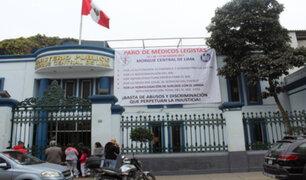 Médicos legistas en huelga: paro durará de 24 a 72 horas