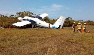 Iquitos: avioneta de la FAP sufrió accidente durante vuelo de instrucción