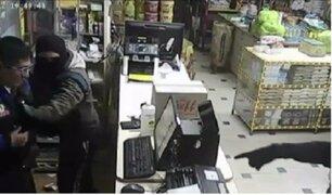 Cámara de seguridad captó robo frustrado en tienda de Huancayo