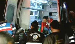 Auto se despista y se estrella contra poste en San Martín de Porres