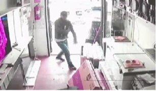 Detienen a delincuente que asaltó tienda de electrodomésticos en Villa El Salvador