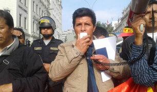 Dirigente Pedro Castillo confirma suspensión temporal de la huelga docente