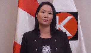 Keiko Fujimori: En mi caso, Odebrecht especula, no muestra hechos