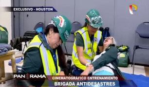 EEUU: cinematográfico entrenamiento de la brigada antidesastres