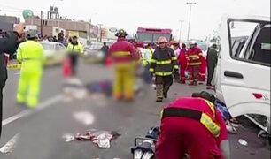 Panamericana Sur: accidente de tránsito deja 5 muertos y 18 personas heridas