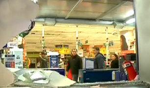 Cercado de Lima: roban supermercado bajo la modalidad del combazo