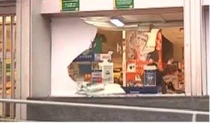 Delincuentes utilizan modalidad del 'combazo' para asaltar tiendas limeñas
