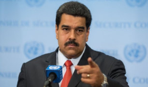 Venezolanos en Lima rechazan visita de Nicolás Maduro a Lima