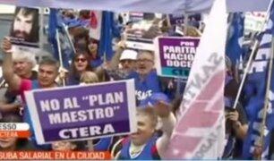 Argentina: maestros piden mejoras en sus salarios