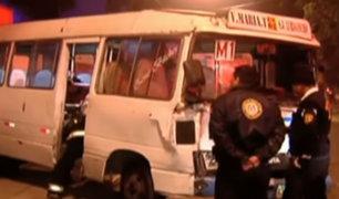 San Isidro: Cústers 'piratas' protagonizan triple choque en Av. Arequipa