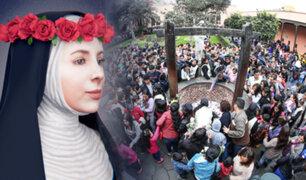Cientos de fieles llegan a santuario de Santa Rosa de Lima