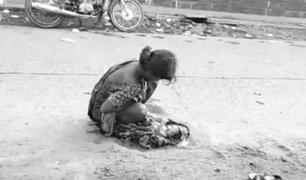 India: mujer de 17 años da a luz en plena calle sin que nadie la socorra
