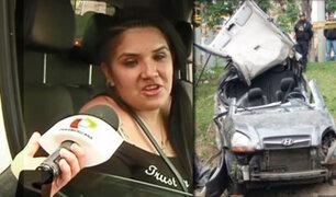 Accidente en la Vía Expresa: dosaje etílico practicado a conductora dio positivo