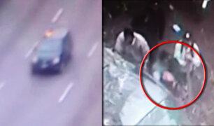 Cámaras de seguridad registraron el accidente en la Vía Expresa