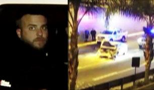 """San Borja: sujeto que hacía """"Piques"""" se estrella aparatosamente con camioneta"""