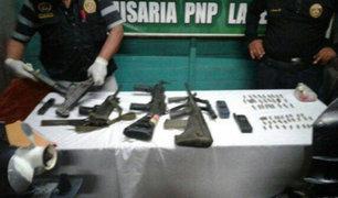 Los Olivos: Policía detuvo a banda de 'marcas' con armamentos de guerra