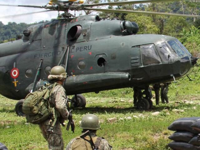 Ayacucho: Helicóptero FAP realizó aterrizaje de emergencia en el VRAEM