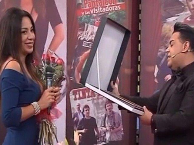 Tatiana Astengo recibió homenaje en el set de Porque Hoy es Sábado