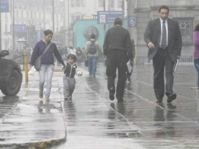 Senamhi: Lloviznas, neblina y humedad continuarán en los próximos días