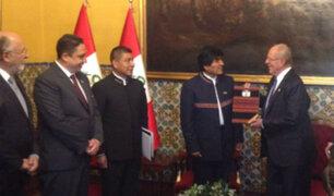 PPK y Evo Morales sostuvieron reunión previo al Gabinete Binacional
