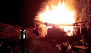 La Libertad: PNP de Otuzco salva a cuatro niños de incendio