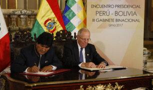 Perú y Bolivia firman acuerdos tras concluir III Gabinete Binacional