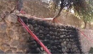 Cusco: investigan a vecinos por quemar basura en andén inca