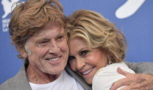 Italia: Jane Fonda y Robert Redford se reunieron en festival de Venecia