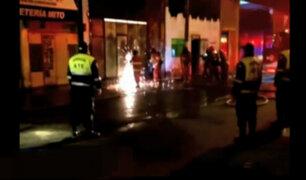 Ate: incendio en  fábrica de calzado causa daños materiales