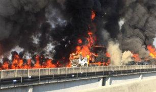 Brasil: choque múltiple dejó 2 muertos y decenas de heridos