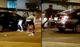La Victoria: captan a tres delincuentes asaltando a taxista