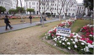 Así quedó la Plaza San Martín tras prolongada huelga de maestros