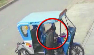 Se incrementa robos de mototaxis en Santa Anita