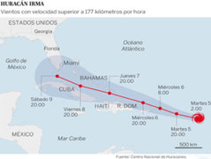 EEUU y el Caribe en alerta máxima: huracán Irma alcanza la categoría 5