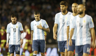 Argentina podría quedarse fuera de Rusia 2018 tras empate con Venezuela