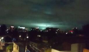 ¿Qué son las extrañas luces en el cielo vistas durante el terremoto de México?