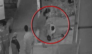 Brutales peleas callejeras son captadas por cámaras de seguridad en Ancón