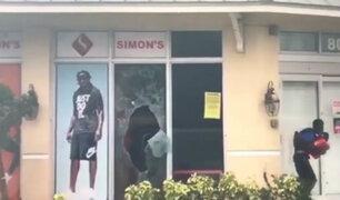 EEUU: saquean tiendas comerciales por paso del huracán 'Irma'