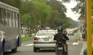 Motociclistas rechazan impedimento de circular por la Av. Arequipa en Miraflores